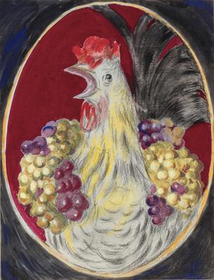 """Gallus """"coq et raisins"""""""