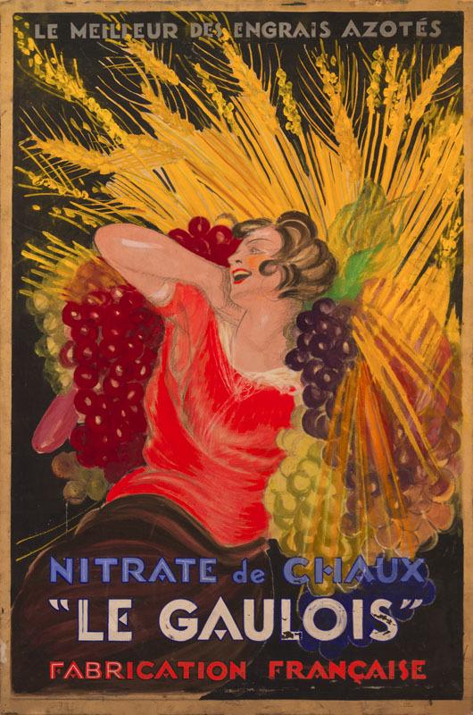 """Nitrate de Chaux """"Le Gaulois"""" (1ère esquisse)"""