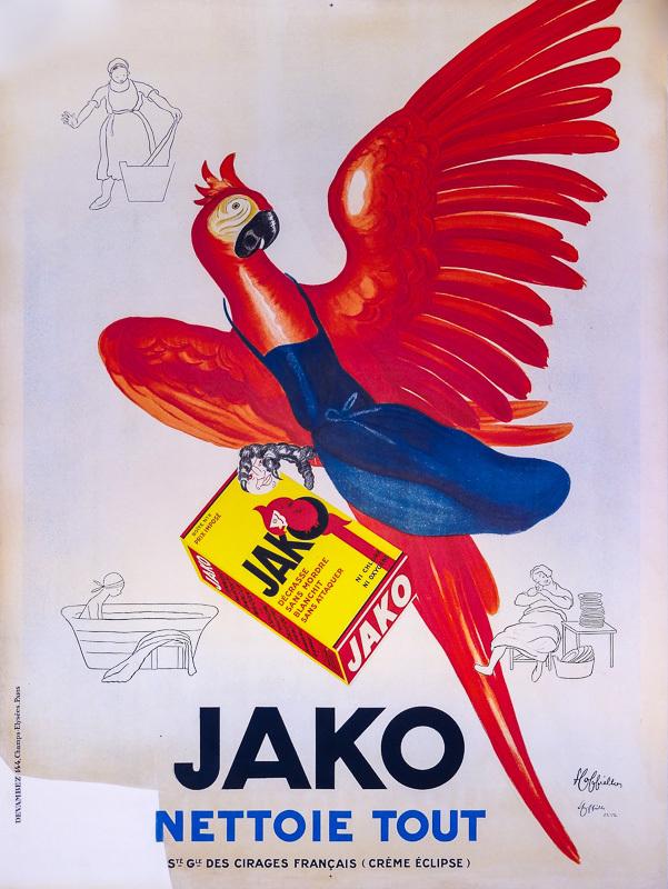 lithographie de Jako contresignée par Cappiello en bas à droite