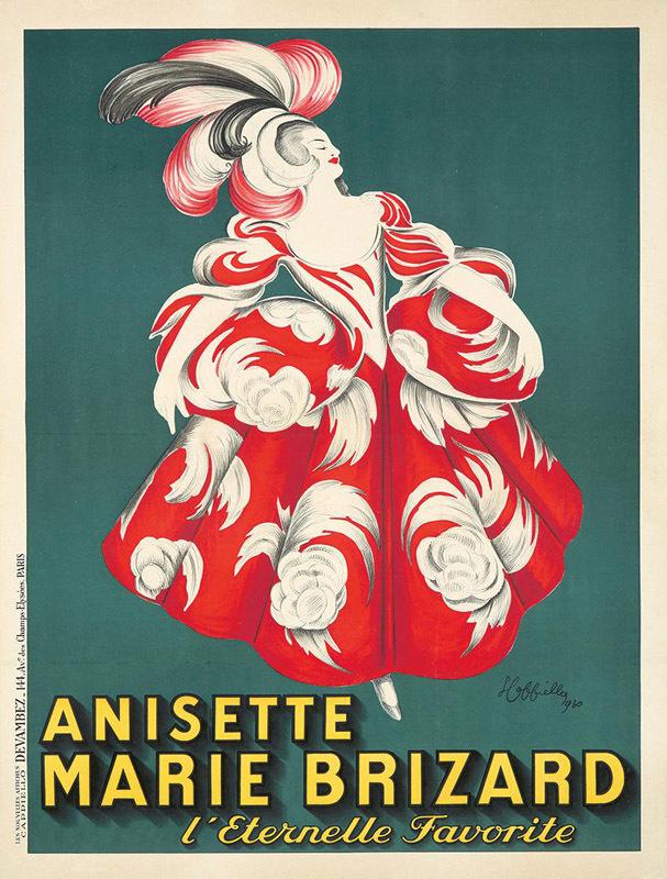 Anisette Marie Brizard (Fond vert)