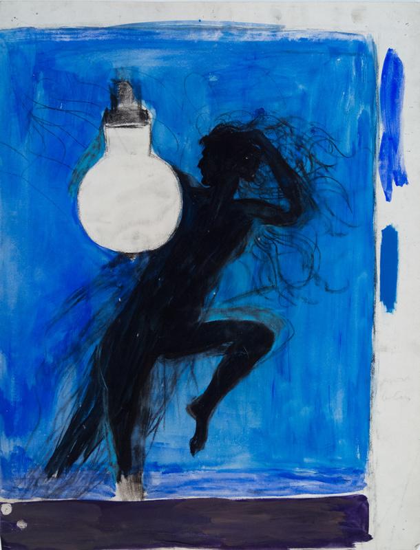 Lampe électrique (Dessin préparatoire)
