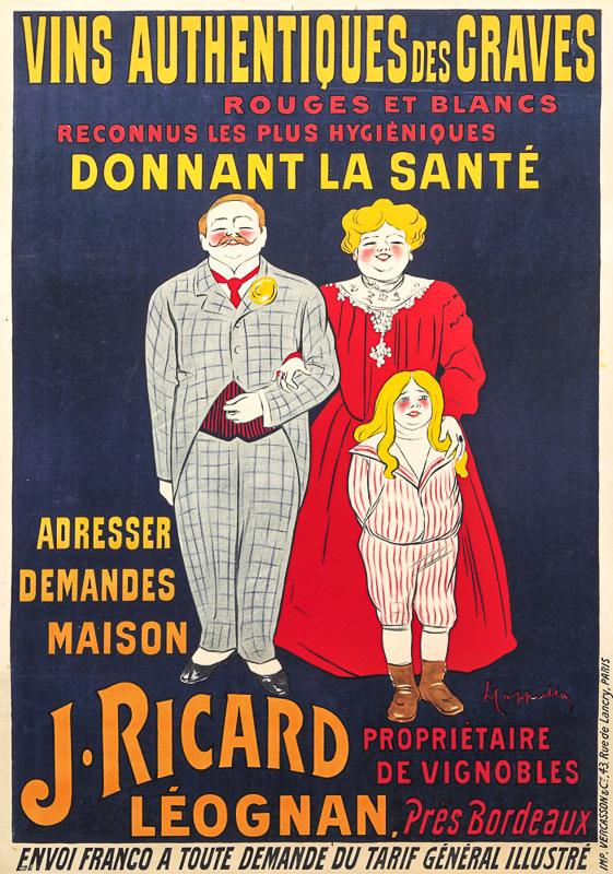Vins authentiques des Graves / J. Ricard - Leognan par Bordeaux