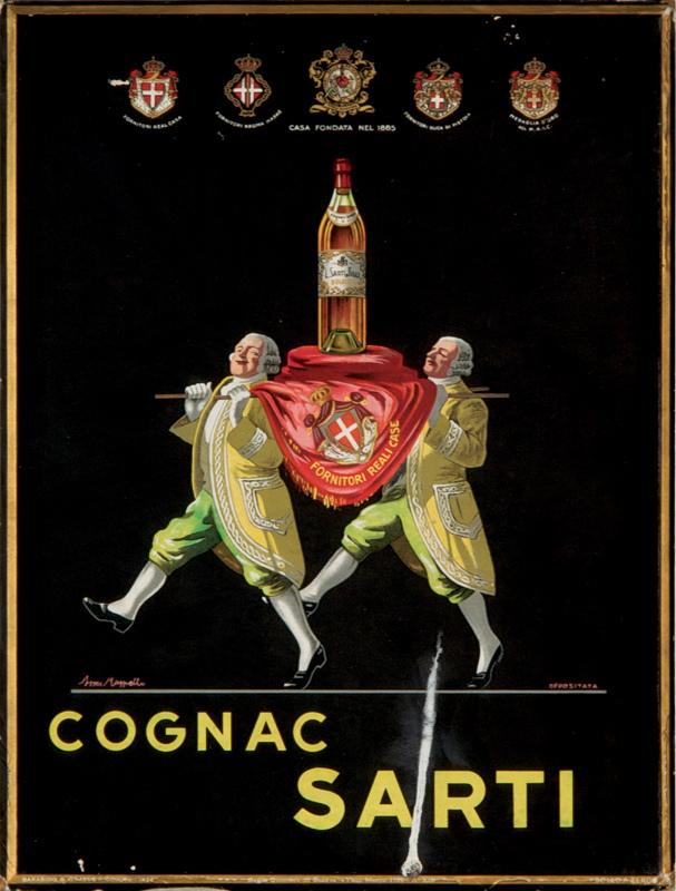 Cognac Sarti (Carton publicitaire)
