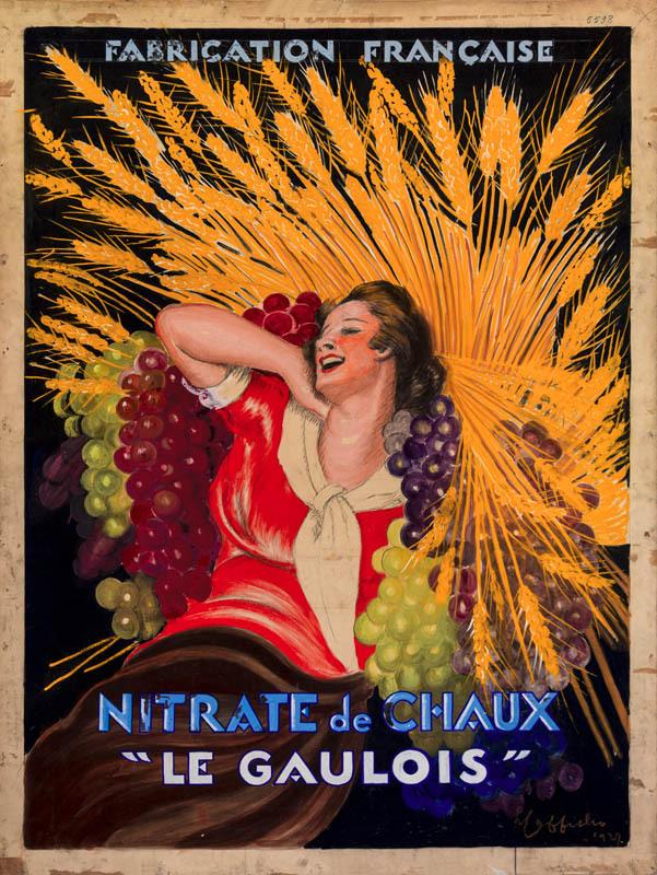 """Nitrate de Chaux """"Le Gaulois"""" (2ème esquisse)"""